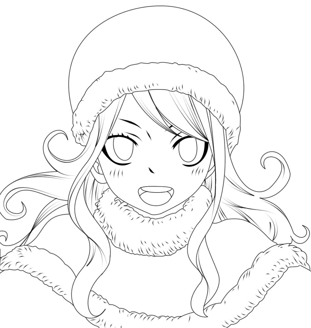 Coloring pages Fairy Tail. Print Free Anime Characters