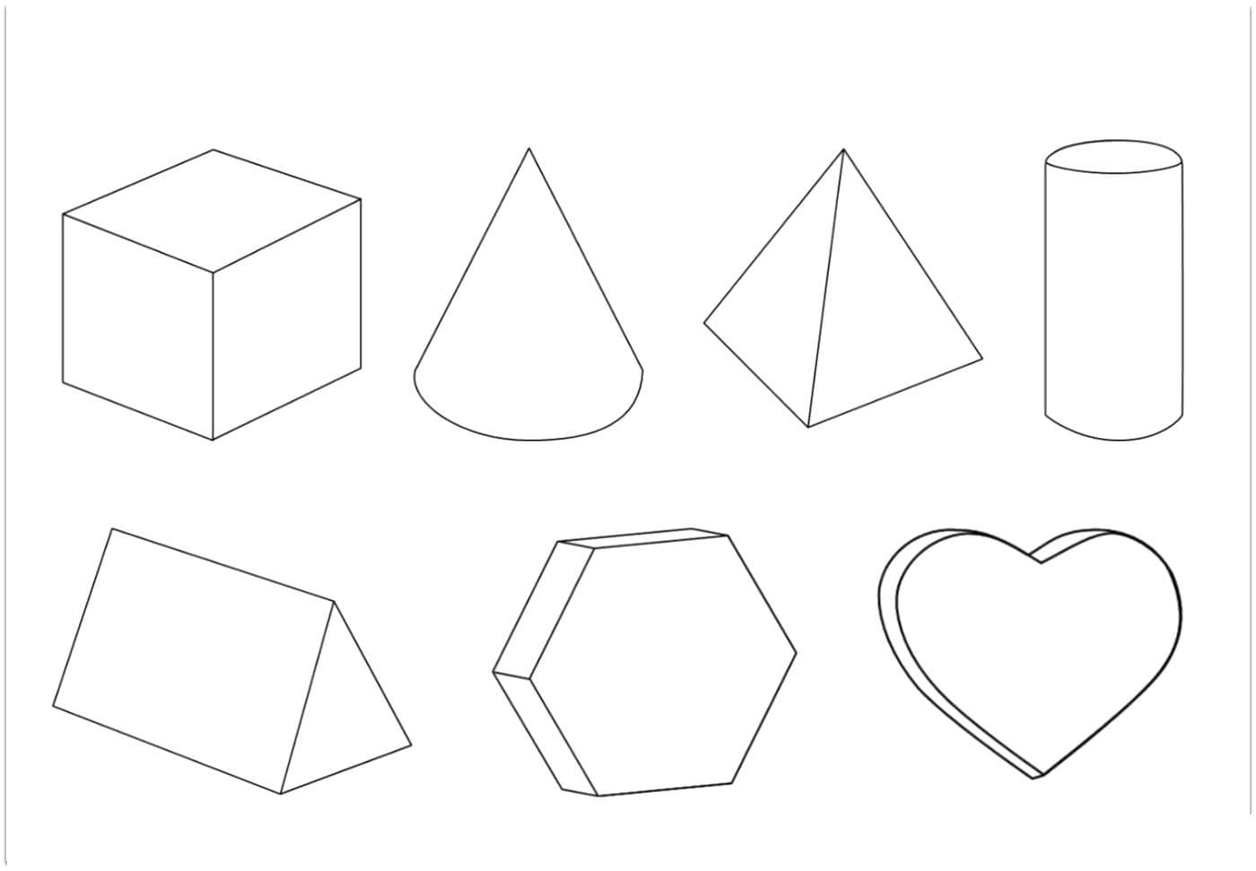 Геометрические фигуры картинки объемные подделка