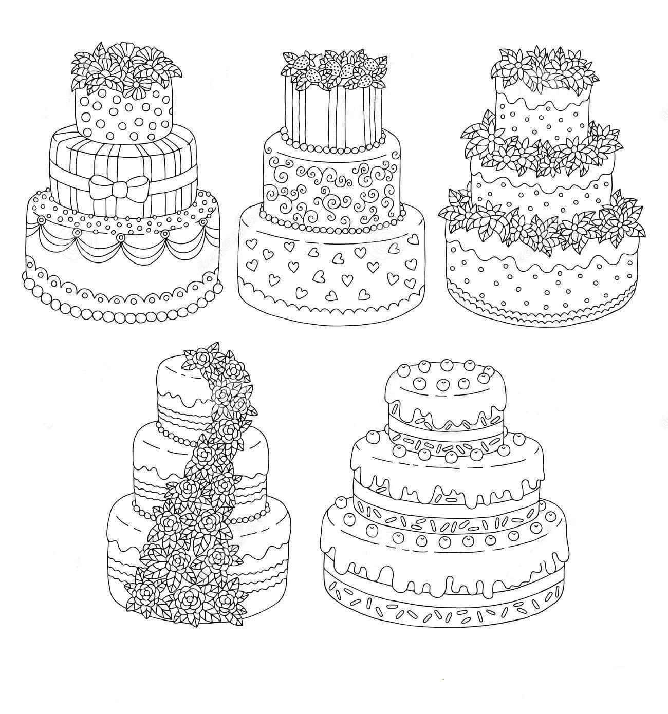 Ausmalbilder Kuchen  17 Bilder zum kostenlosen Drucken
