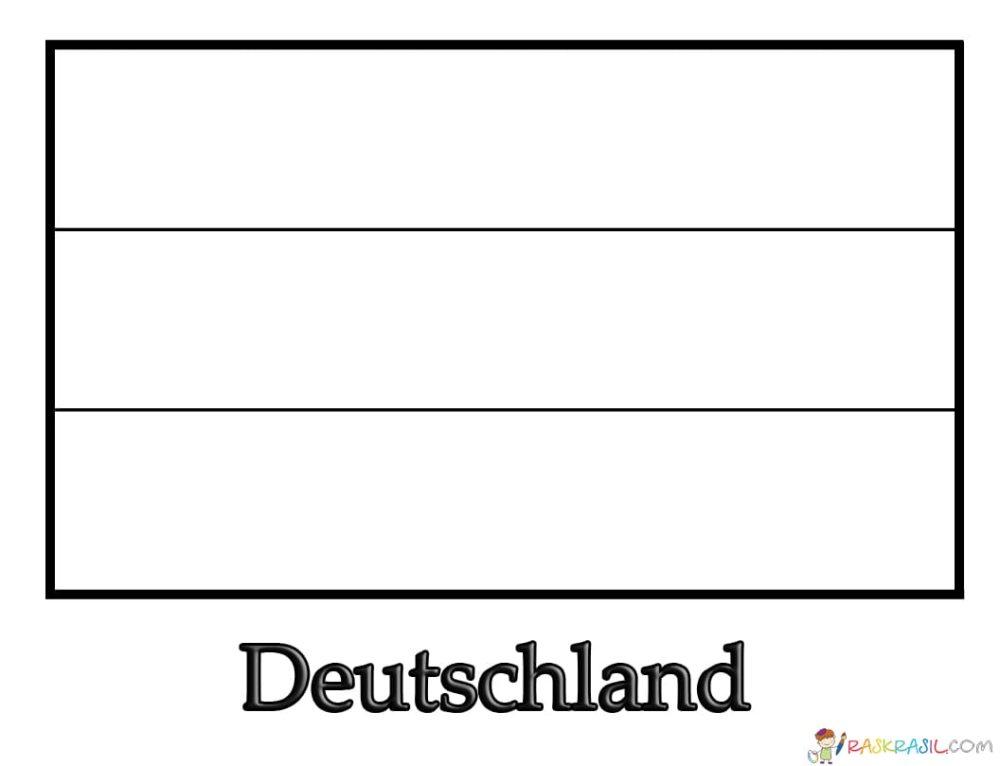 Ausmalbilder Flagge von Deutschland. Kostenlos drucken