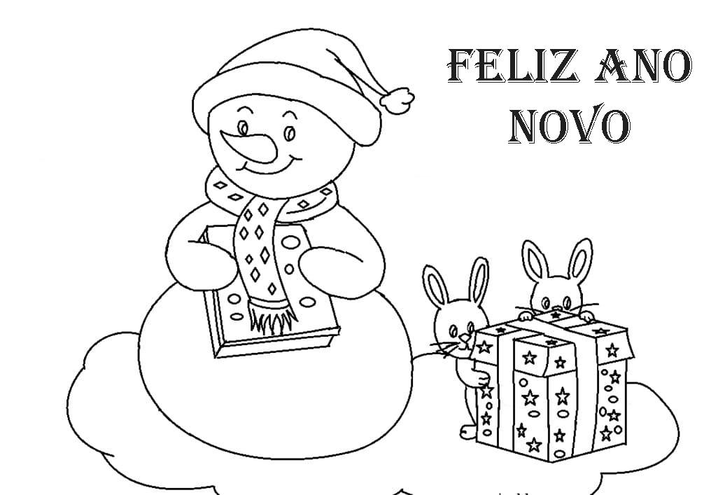 Desenhos de Ano Novo para colorir. Imprima online