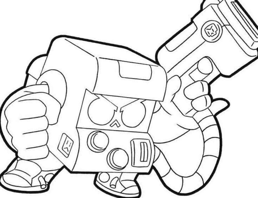 Disegni da colorare 8 bit. Stampa gratuitamente dal gioco Brawl Stars