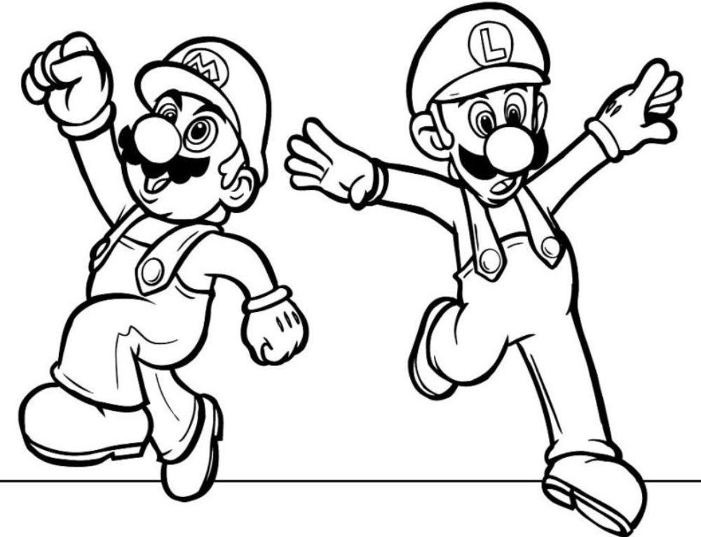 Раскраски Марио. 100 изображений для печати из легендарной игры