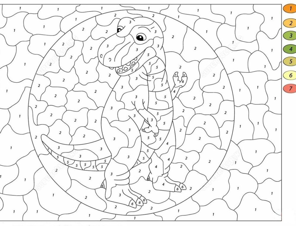 Dibujos para colorear por números para niños. Imprime gratis
