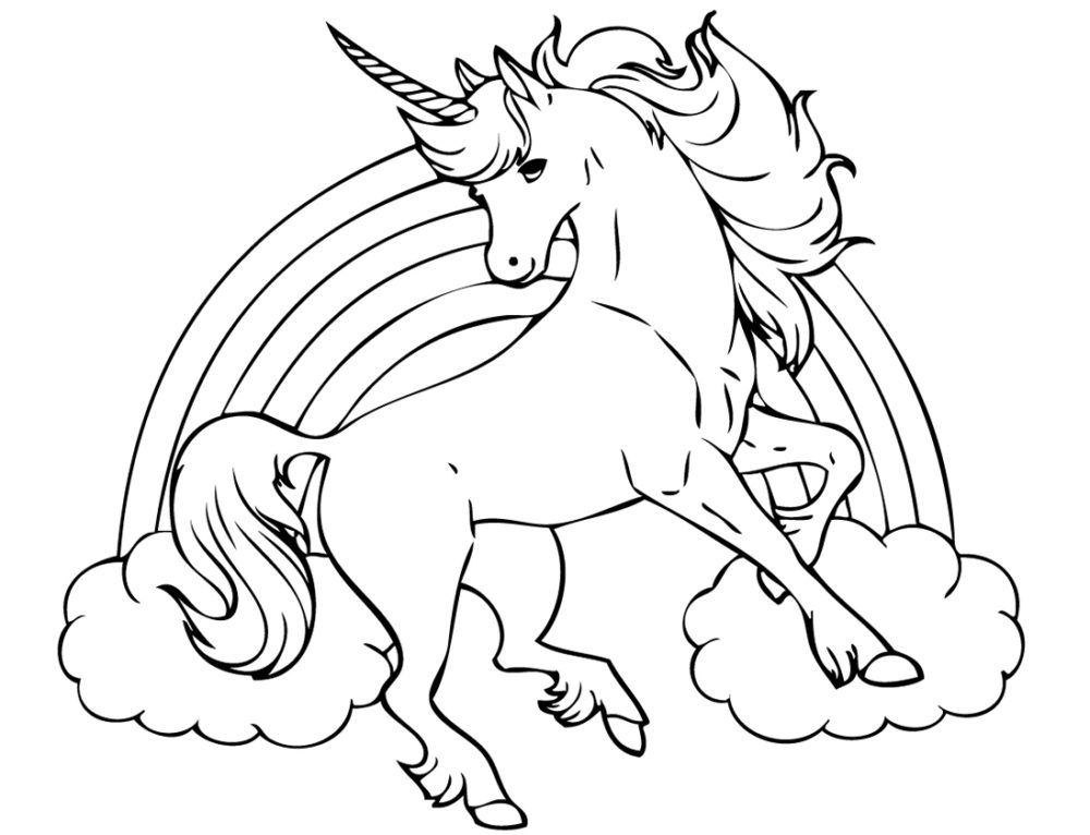 Unicorn Coloring Pages. 100 Best Images Free Printable