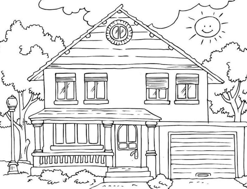 Houses Coloring Pages. Free Collection of Images For Children's Creativity