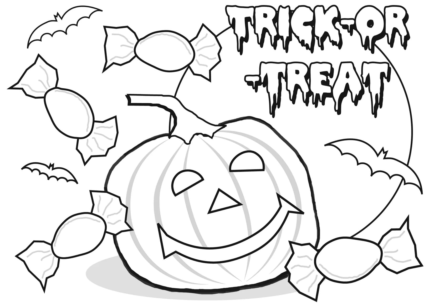Halloween Coloring Pages. 120 New Pictures Free Printable