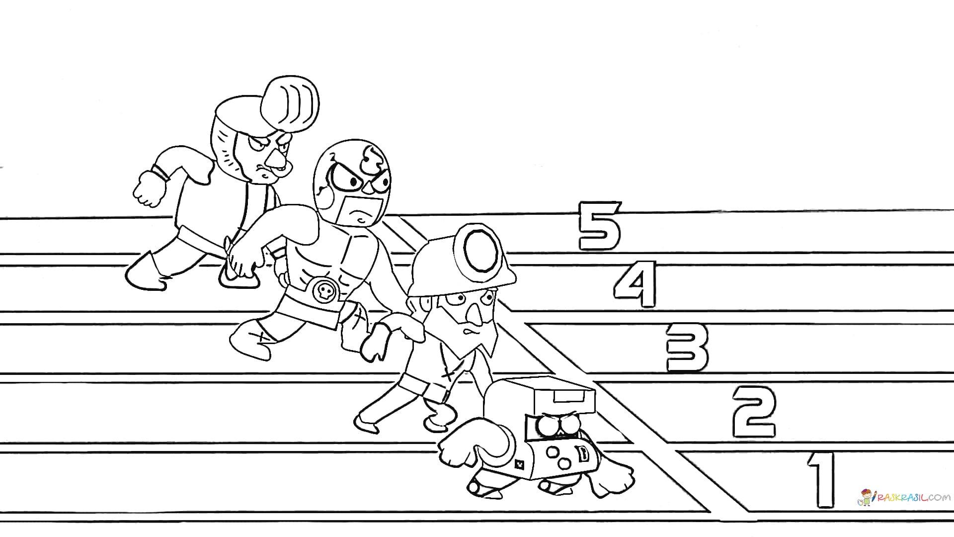 Dibujos de 8 bit para colorear. Imprime gratis desde el juego Brawl Stars