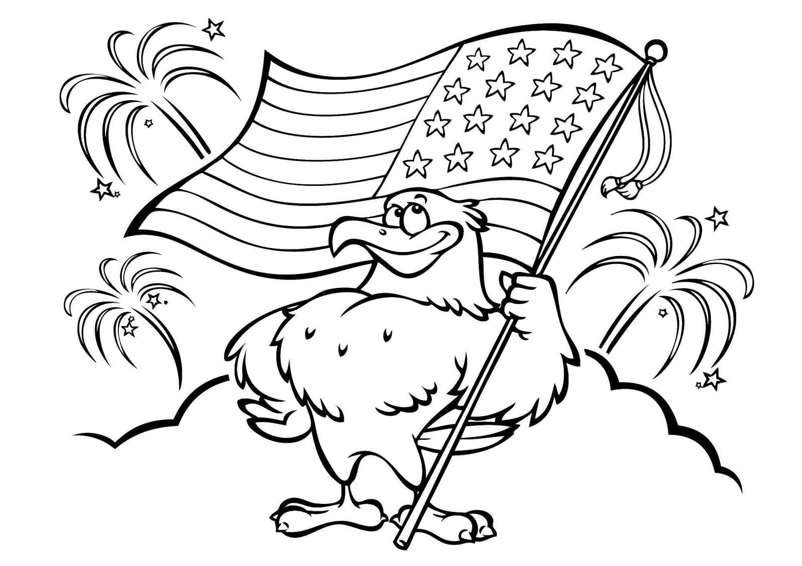 American Flag Coloring Pages. You can print on the site ...