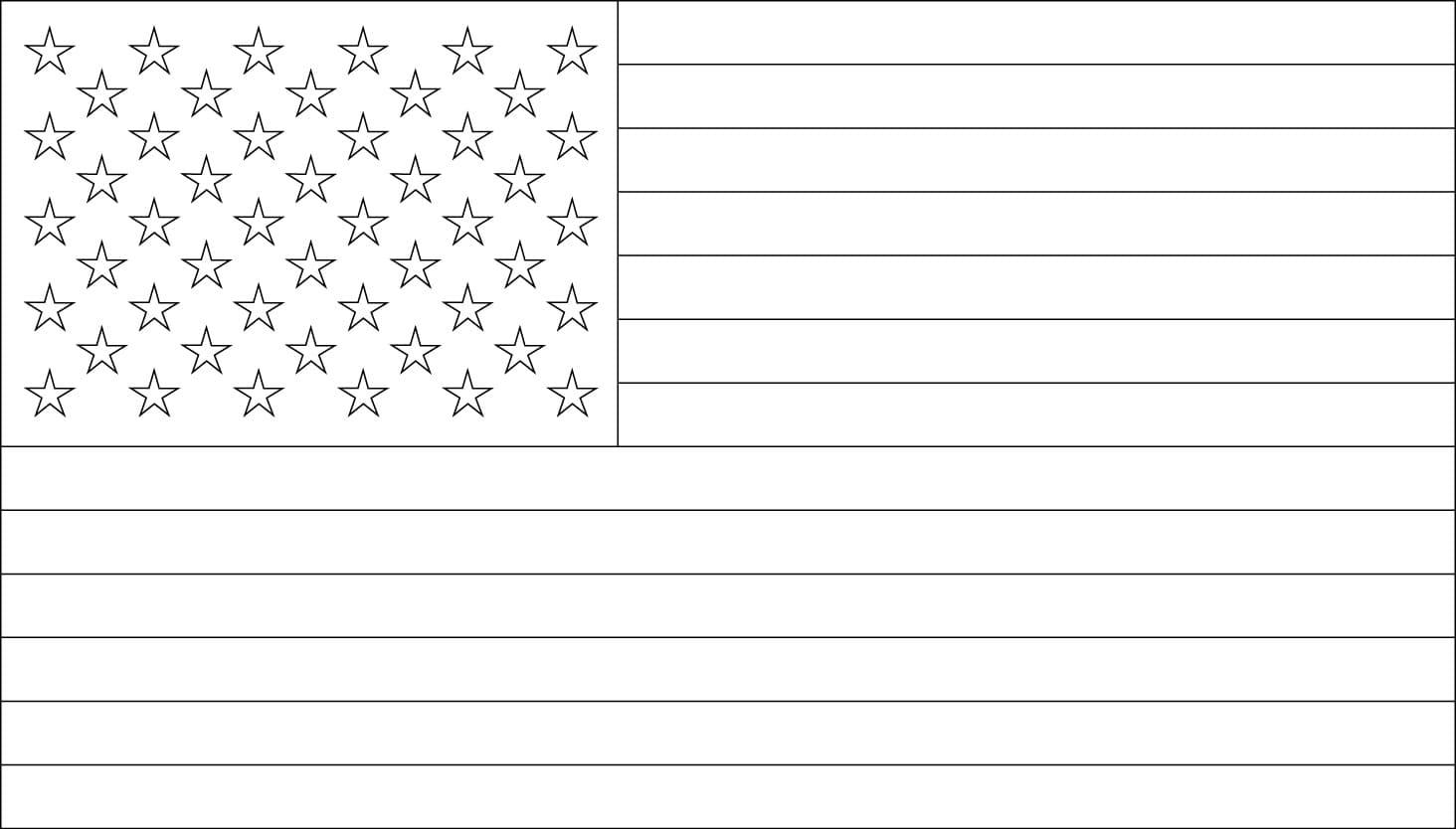 Раскраски флаг Америки. Распечатать можно на сайте бесплатно