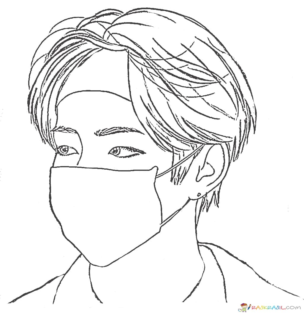 Bts Coloring Pages Print Members Of A Popular Korean Group