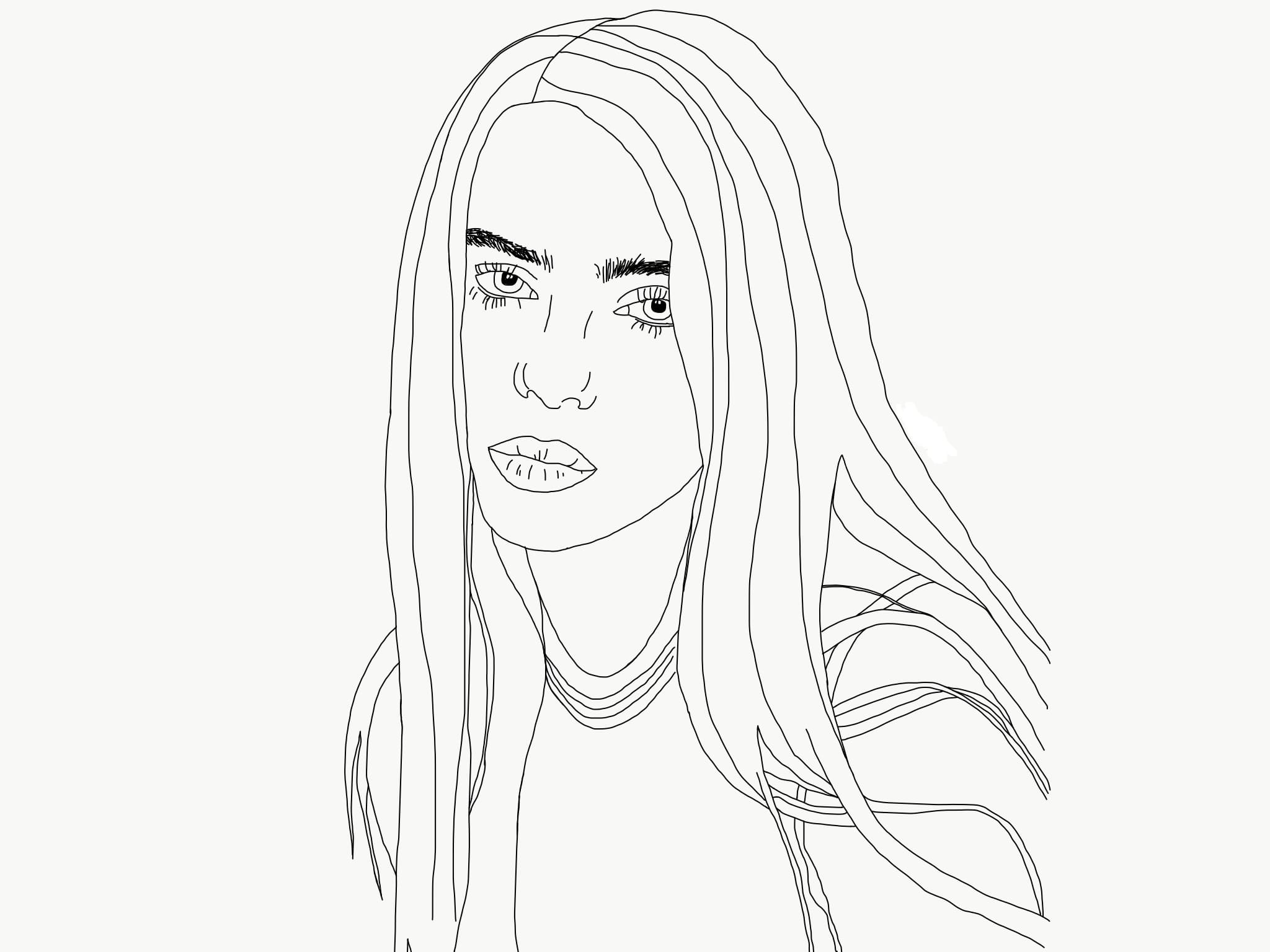 Famous singers coloring pages with pop stars Topcoloringpages | 1536x2048