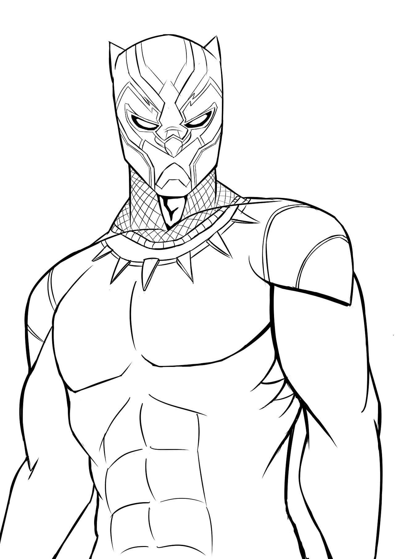 - Coloring Pages Black Panther. Superhero Marvel Free
