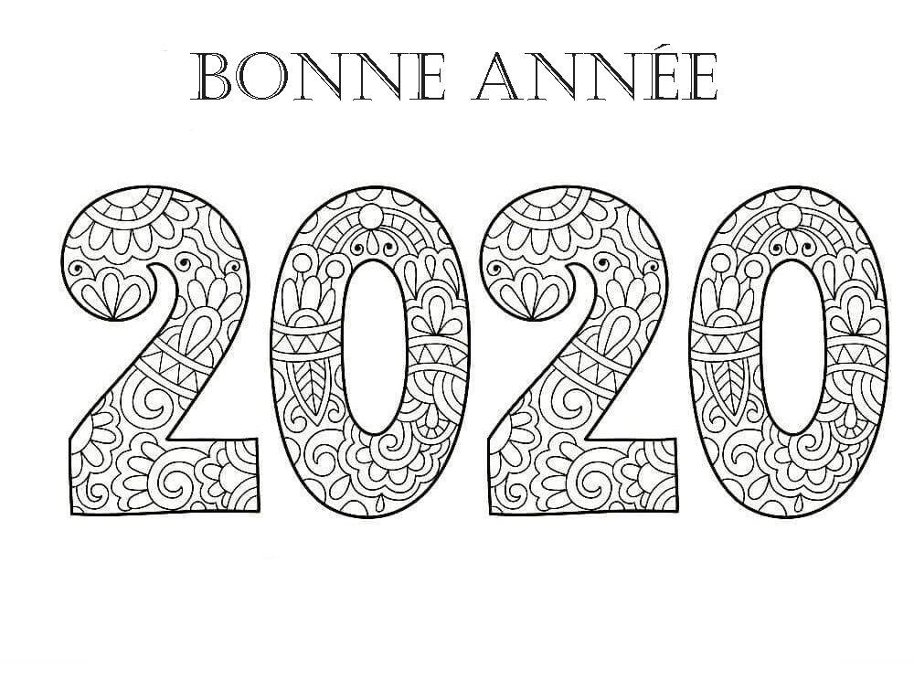 Coloriage Bonne année. Imprimer en ligne, 100 images
