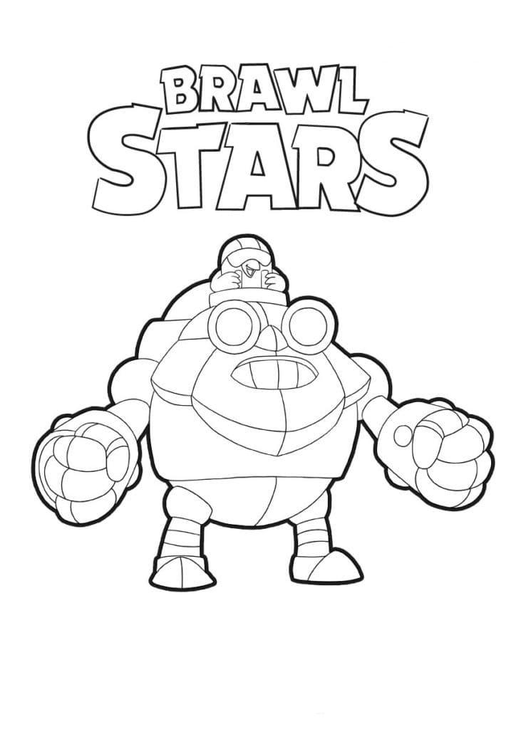 Раскраски Браво Старс (Brawl Stars). 100 картинок. Распечатать бесплатно