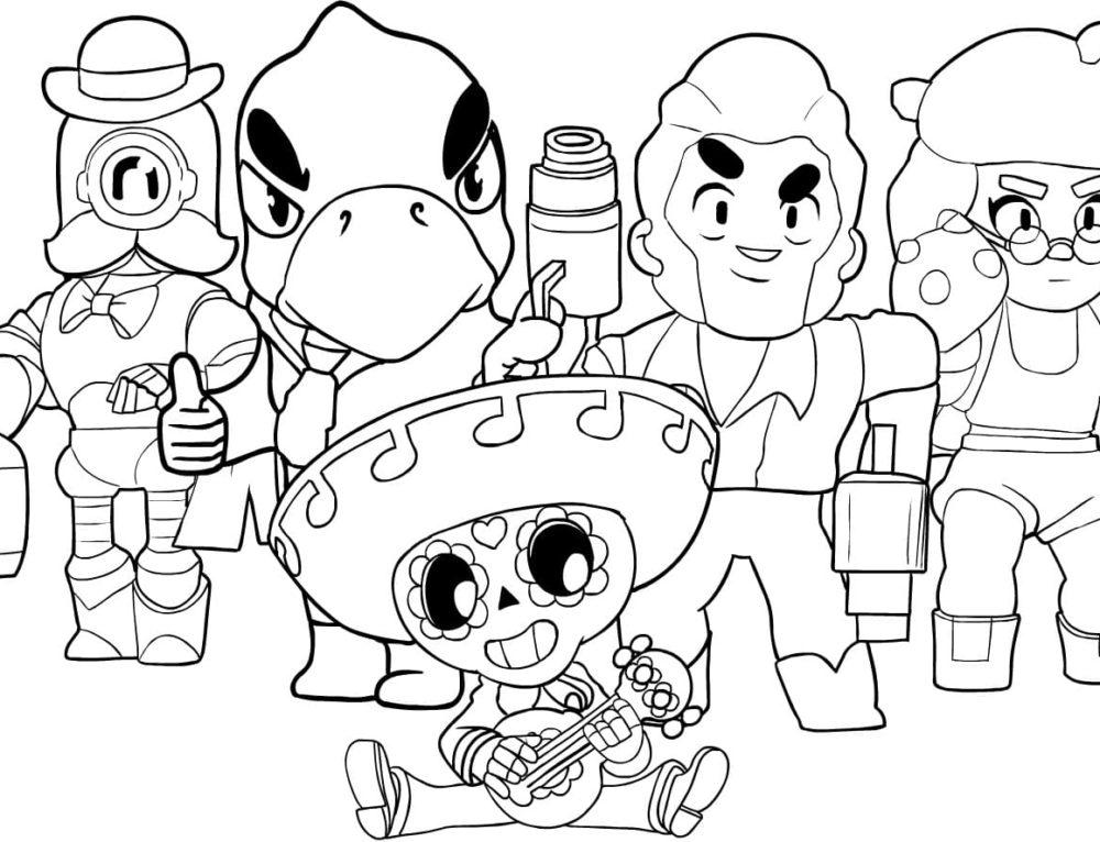 Dibujos de Brawl Stars para colorear. Imprimir en línea gratis! 50 imágenes