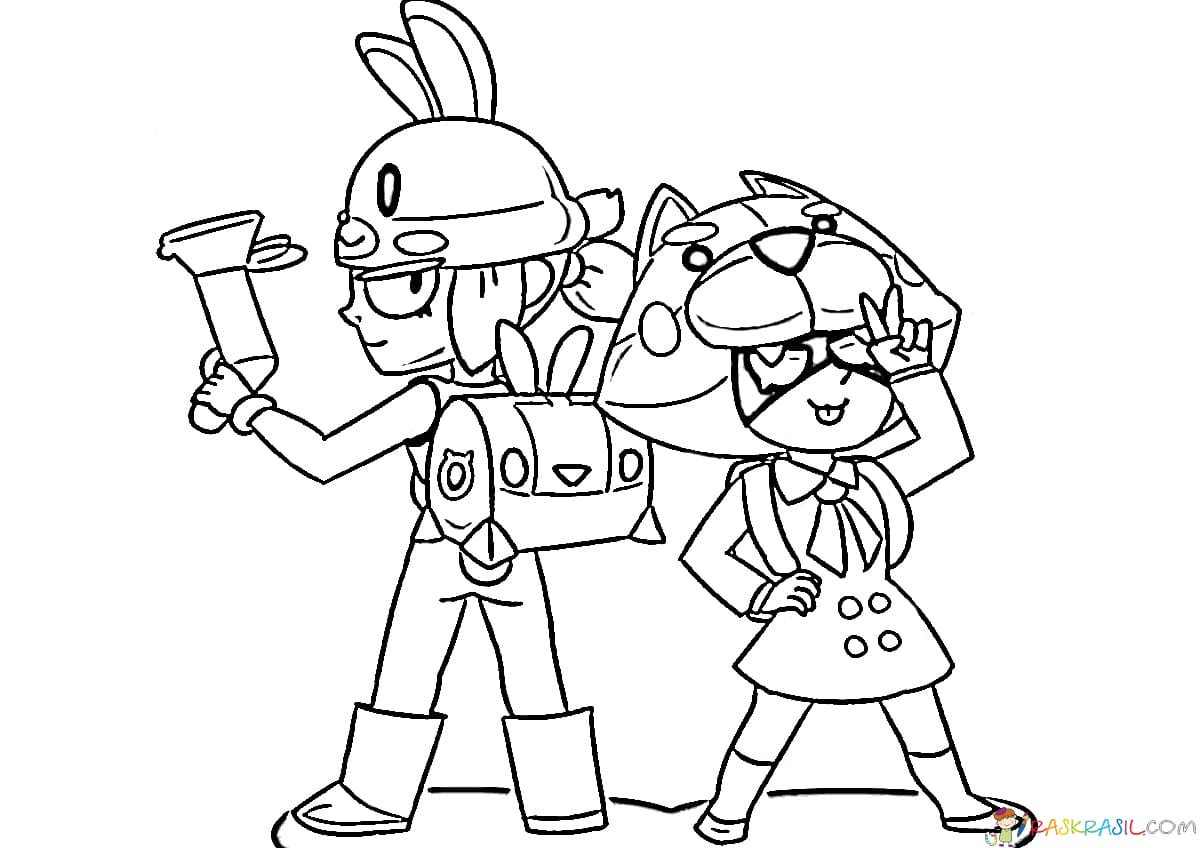 brawl stars coloring pages print them