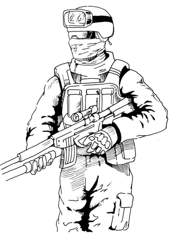 CS GO Coloring pages. Print the best images from the game