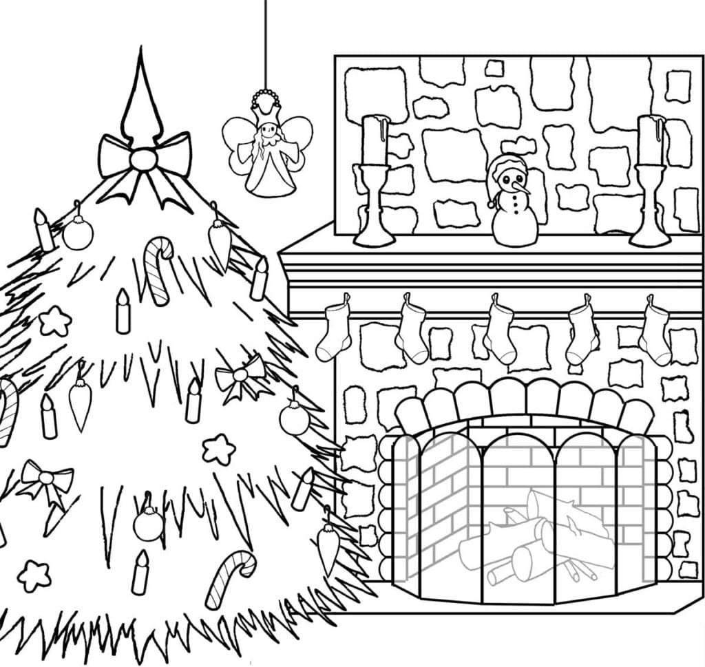 Coloring pages Christmas. Download or print for free