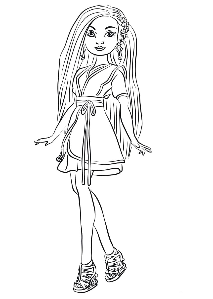 Coloring pages Descendants. Disney characters Print for free
