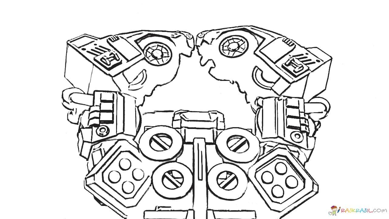 Раскраски Дикие Скричеры. Распечатайте машинки-трансформеры