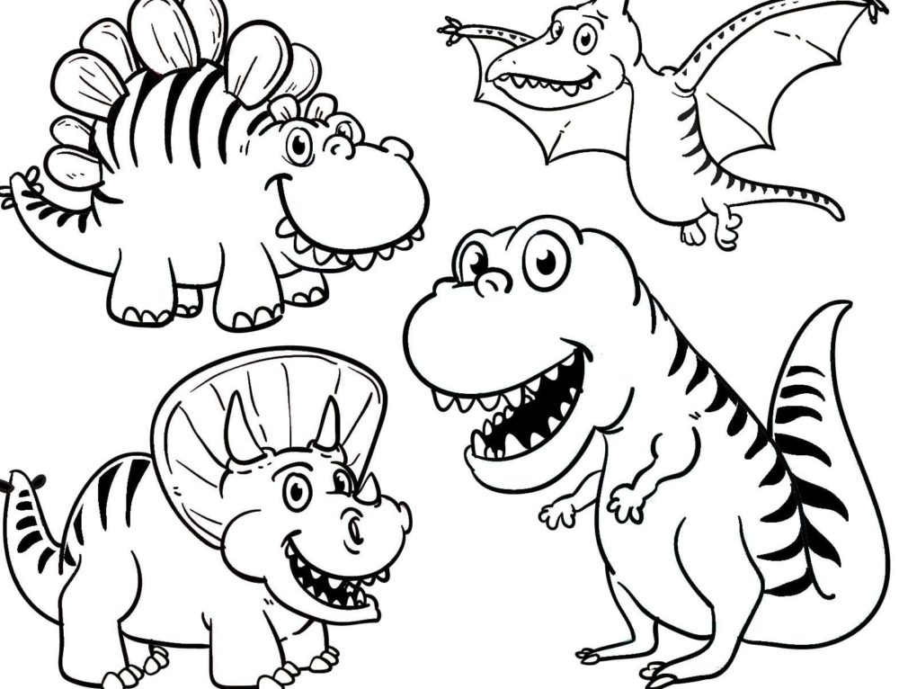 Coloring pages Dinosaurs. Large collection, Print for Free