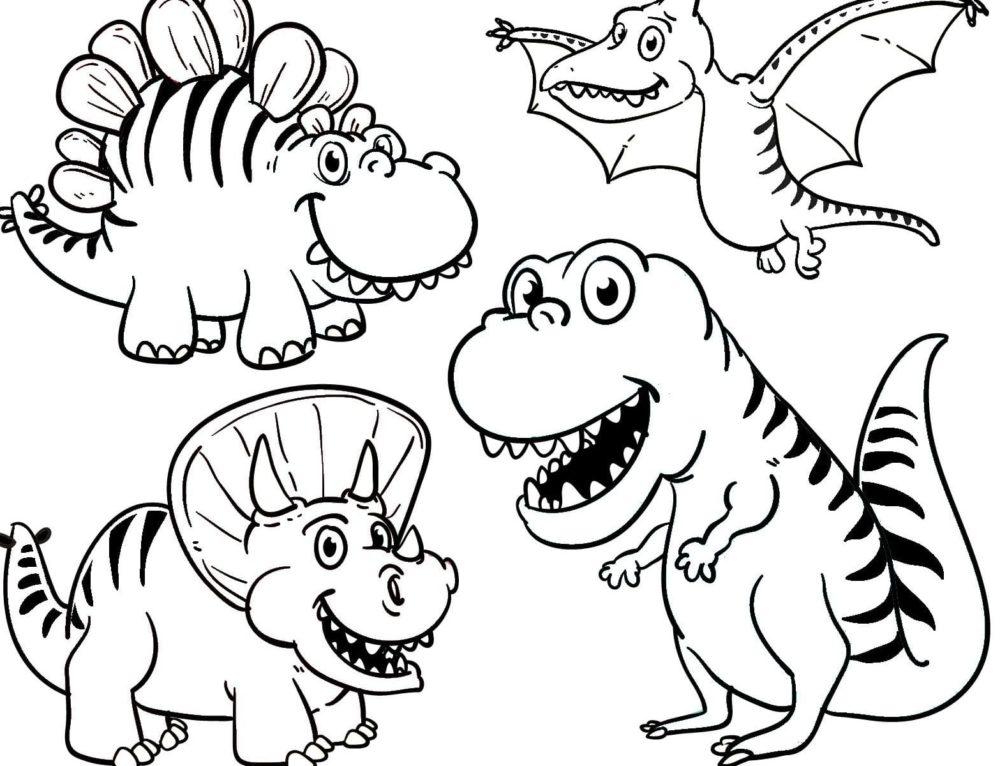 Раскраски Динозавры. Большая коллекция, распечатать бесплатно