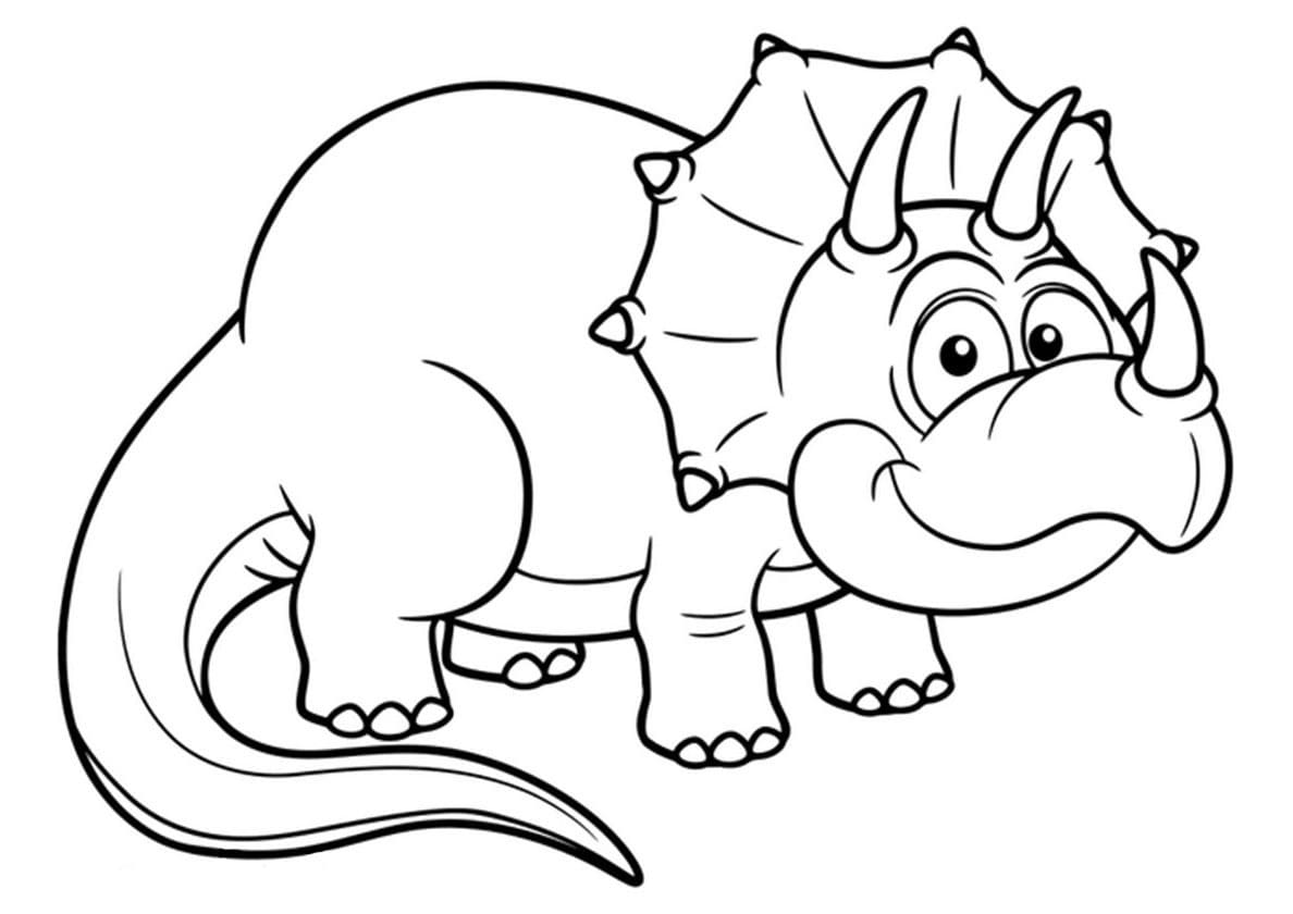 Coloriage Dinosaure. Grande collection, impression gratuite