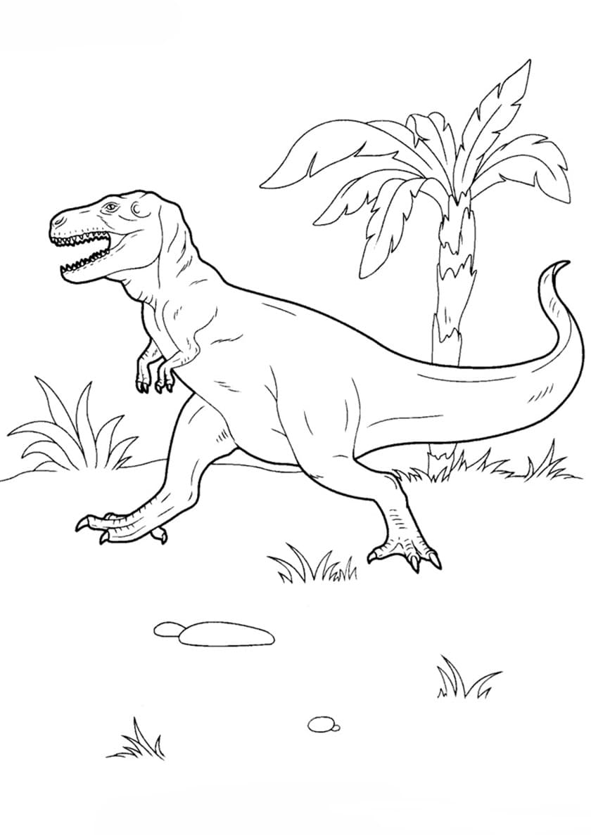 Dinosaurs Battle - Dinosaurs Adult Coloring Pages | 1188x840