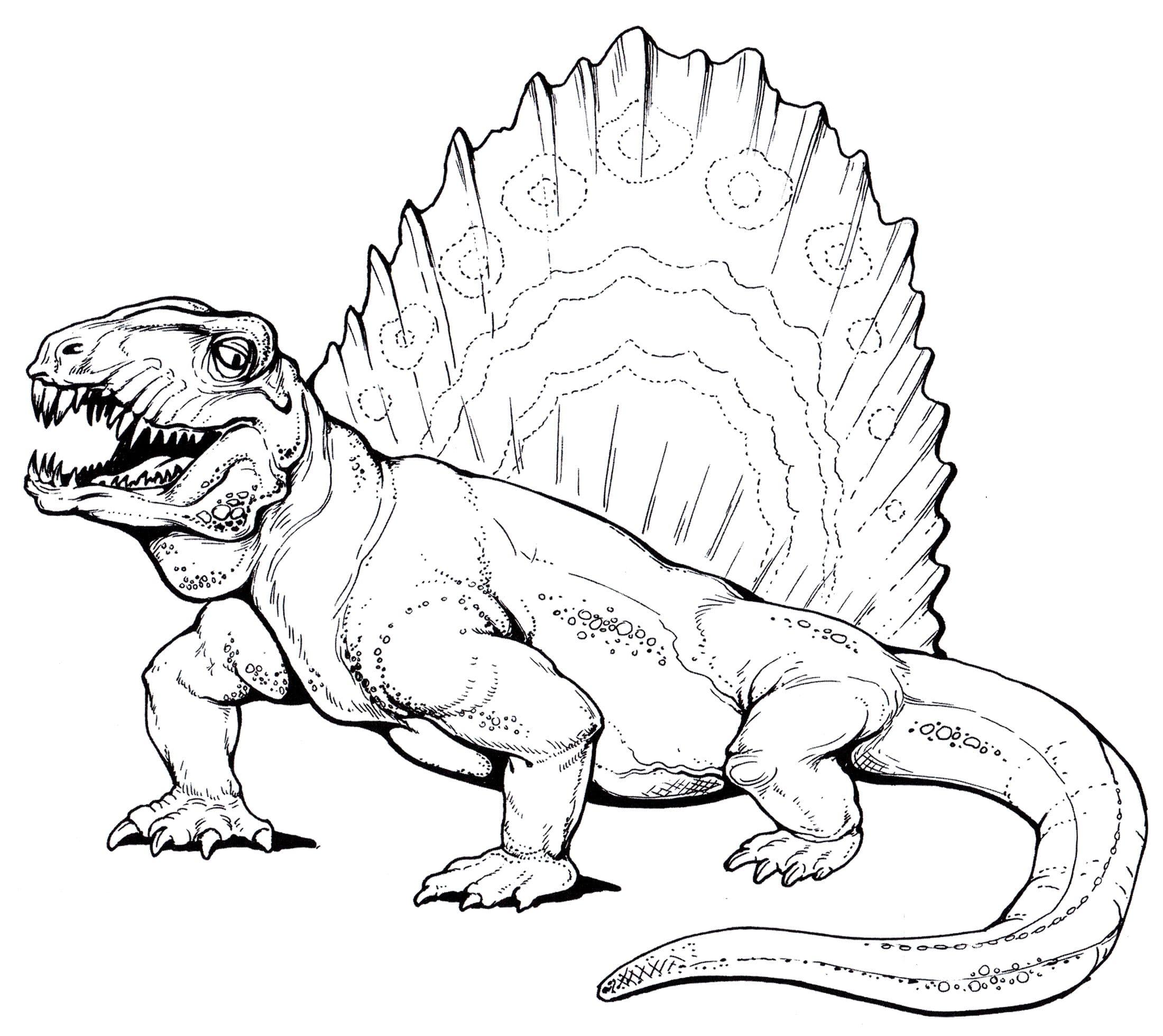 Dibujos de Dinosaurios para colorear. Gran colección, imprimir gratis