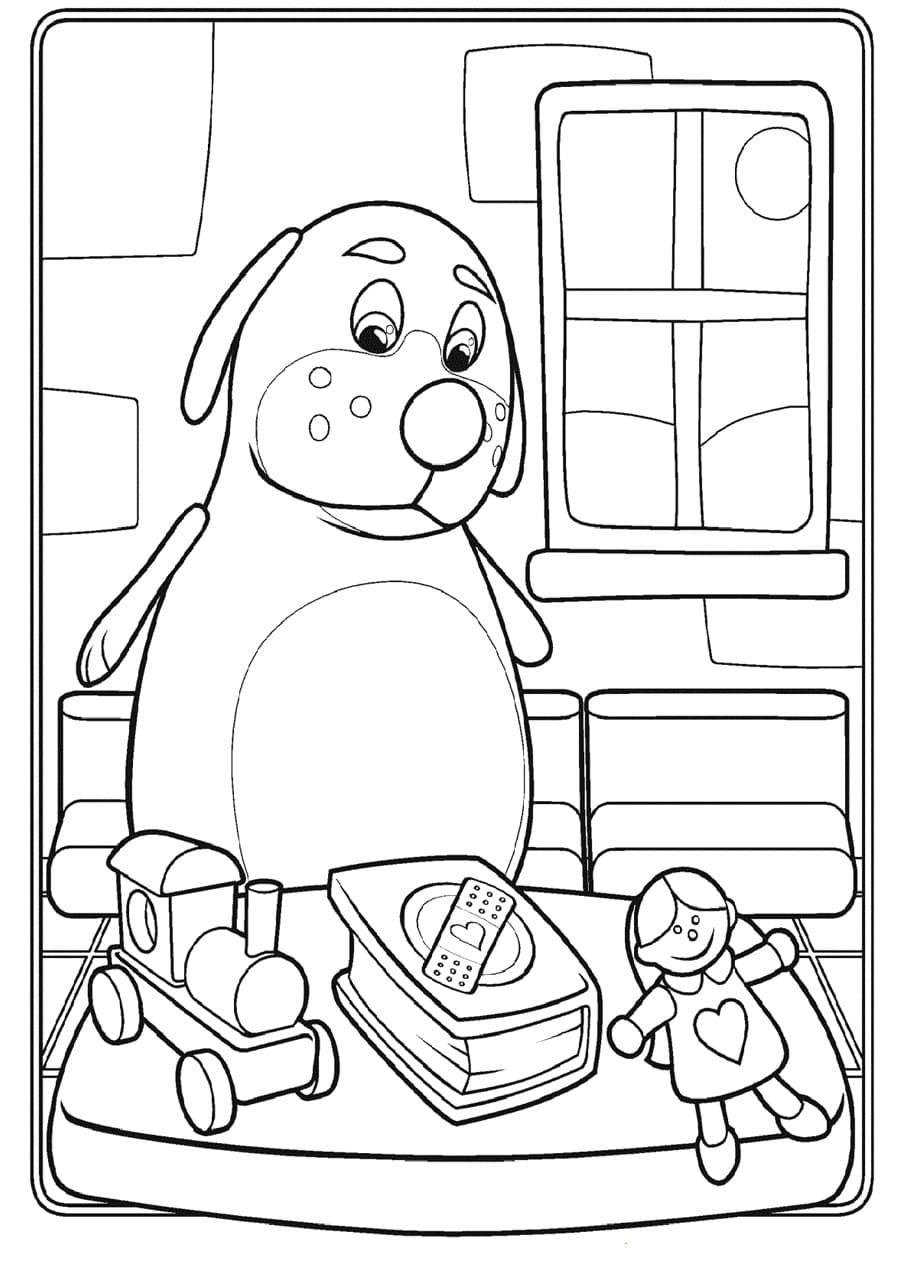 Раскраски Доктор Плюшева. Распечатайте Дотти и ее игрушки