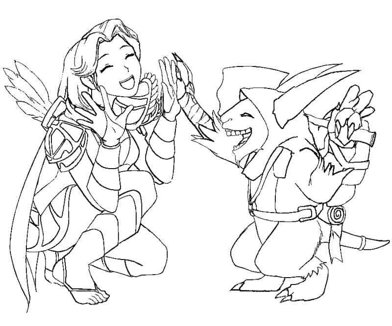 Dota 2 Coloring Pages.Print Dota 2heroes for free