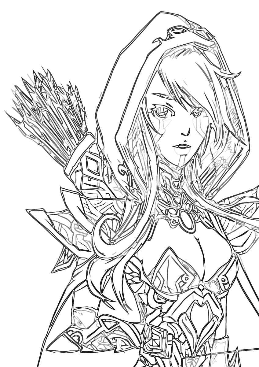 Dibujos para colorear Dota 2. Imprime Dota 2 Heroes gratis
