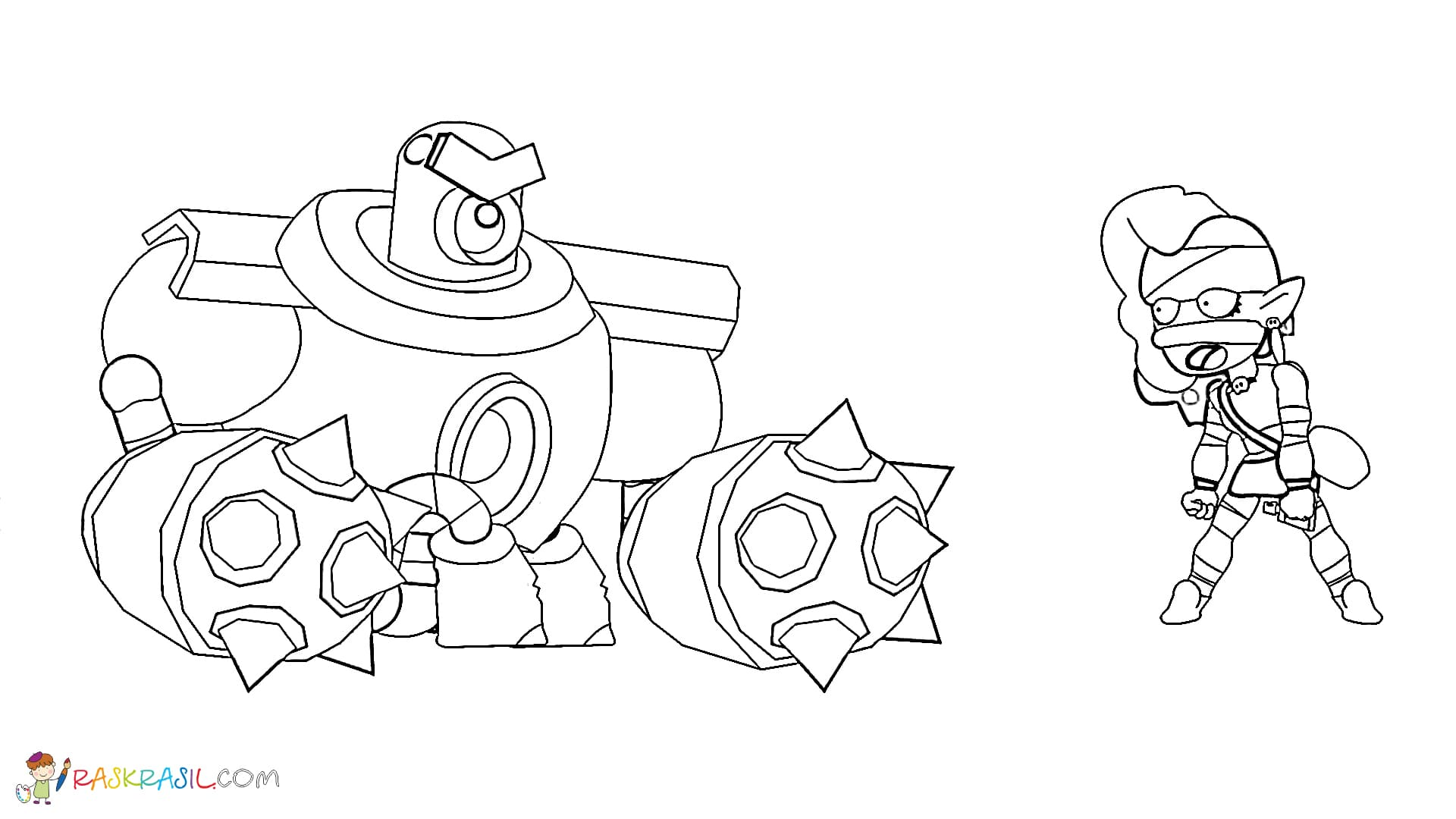 Coloring Pages Emz. Print out your Brawl Stars character online