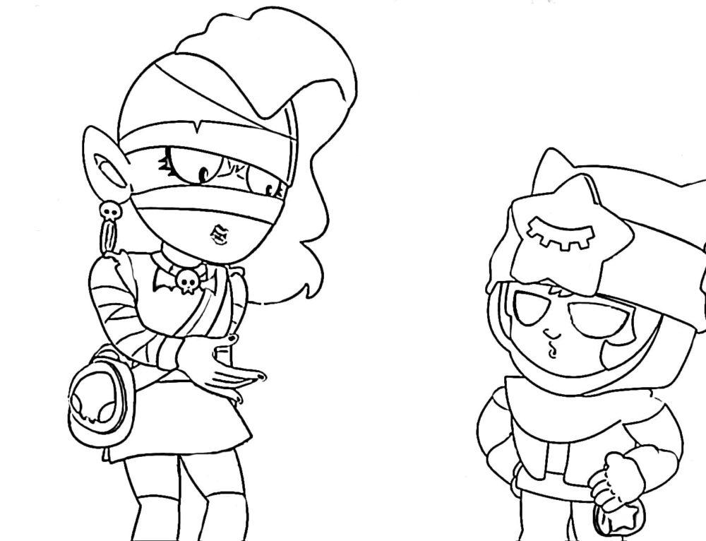 Dibujos para colorear Emz. Imprime personaje de Brawl Stars en línea