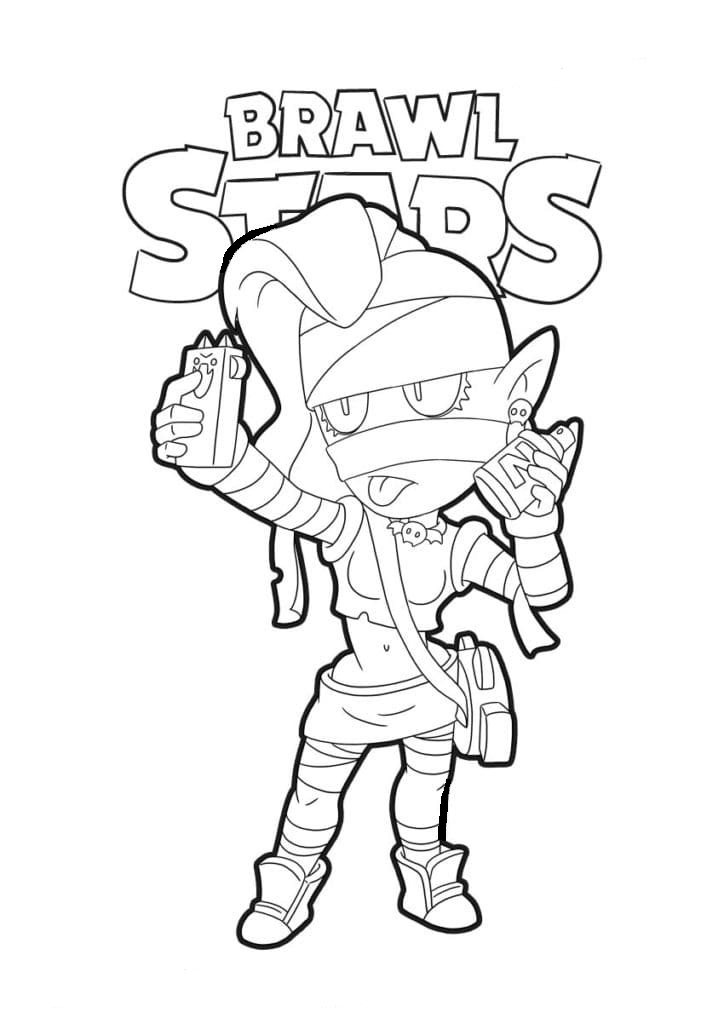 Coloring Pages Emz. Print out your Brawl Stars character ...