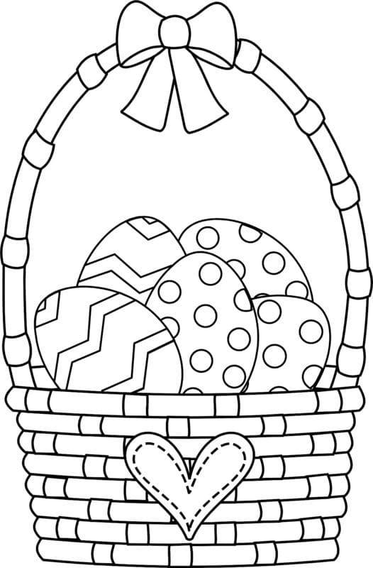 Ausmalbilder Ostern. Kostenlos Ostereier und Hasen ausdrucken