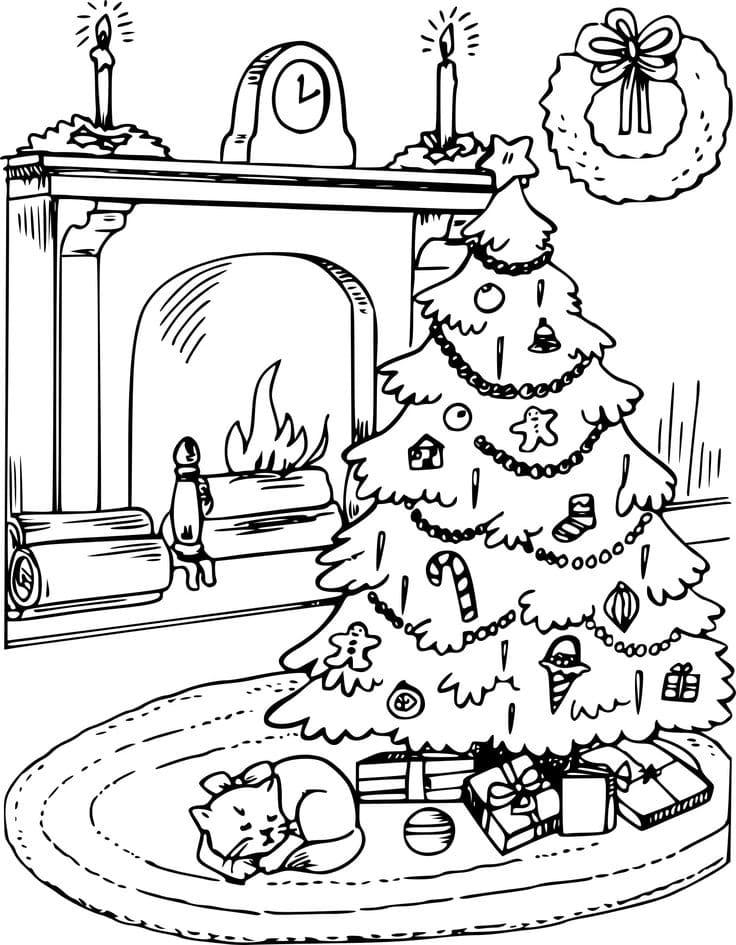 Картинки раскраски на рождество и новый год