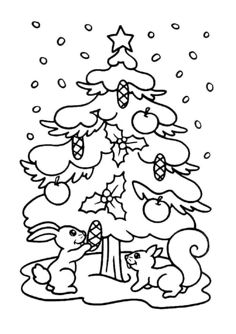 Раскраски Елка. Распечатайте новогоднюю елку для детей