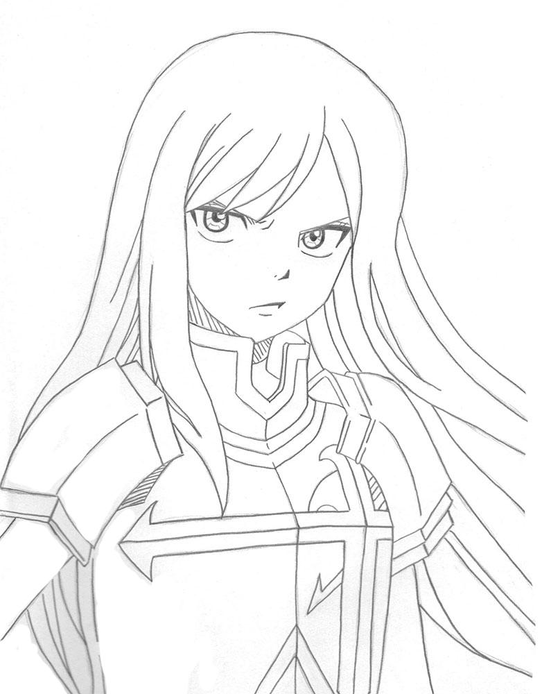Disegni da colorare Fairy Tail. Stampa personaggi anime gratuiti