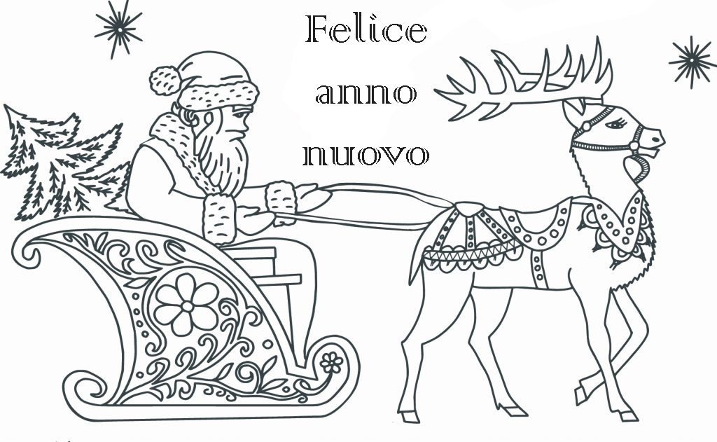 Disegni di Felice anno nuovo da colorare. Scarica o stampa online