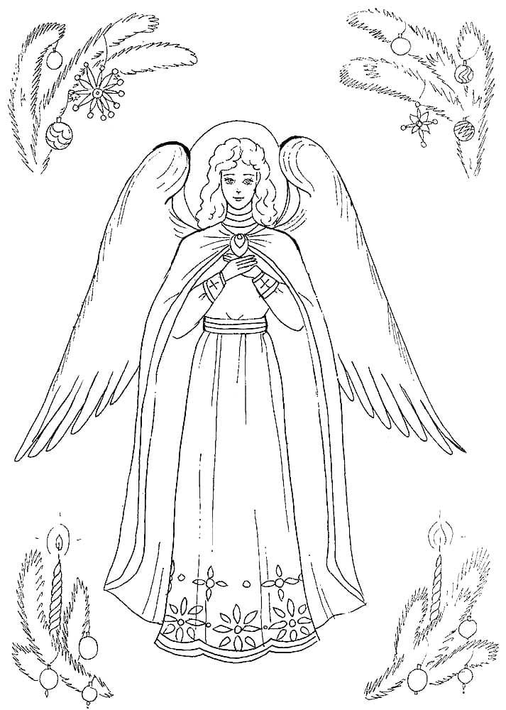Ангел раскраски в картинках для детей