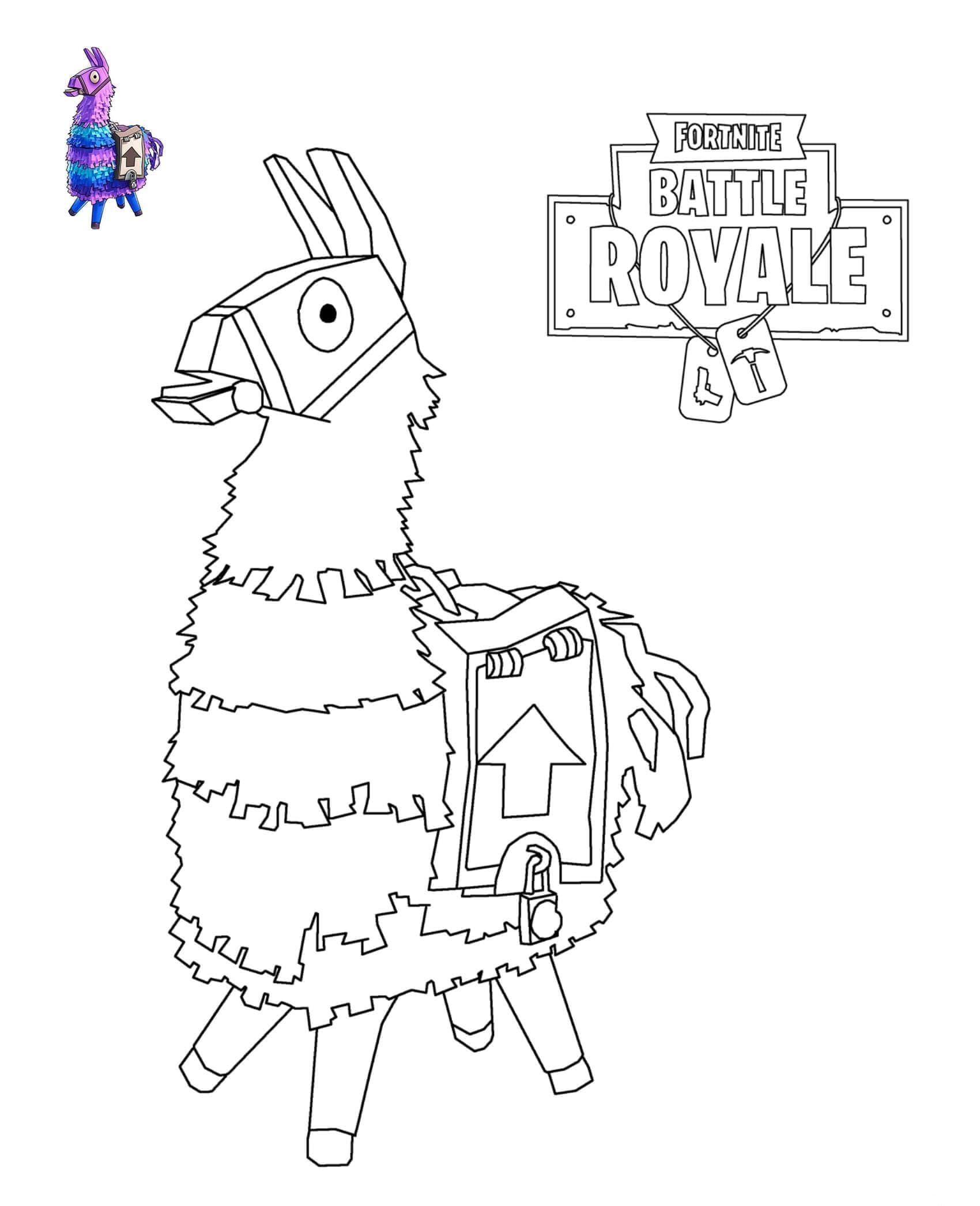 It is a graphic of Fortnite Coloring Pages Printable with drawing