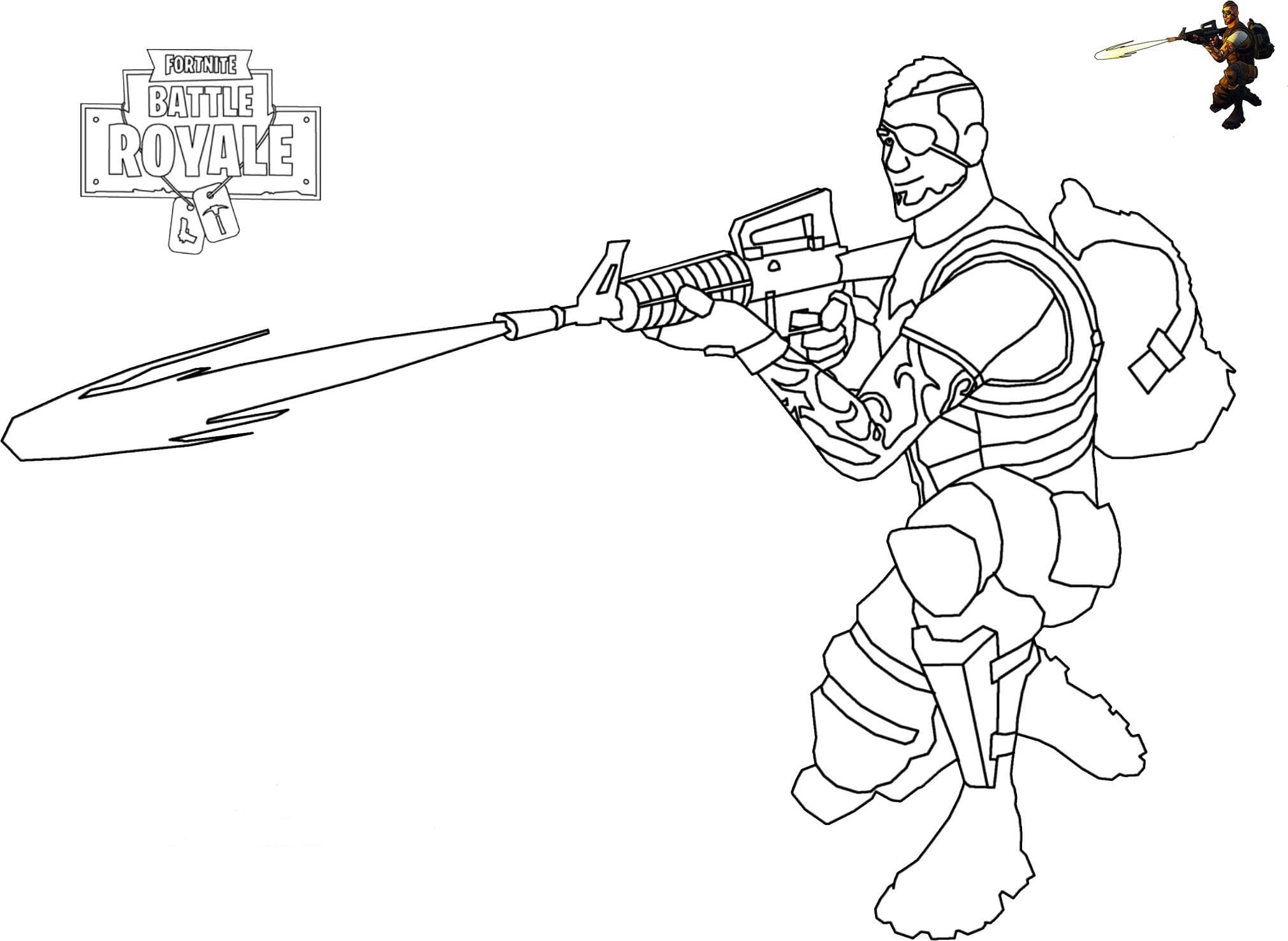 Fortnite coloring pages. Print heroes from the game for free