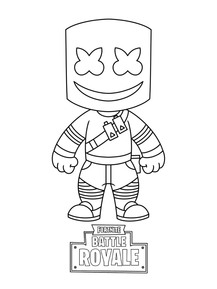 Fortnite Coloring Pages Print Heroes From The Game For Free