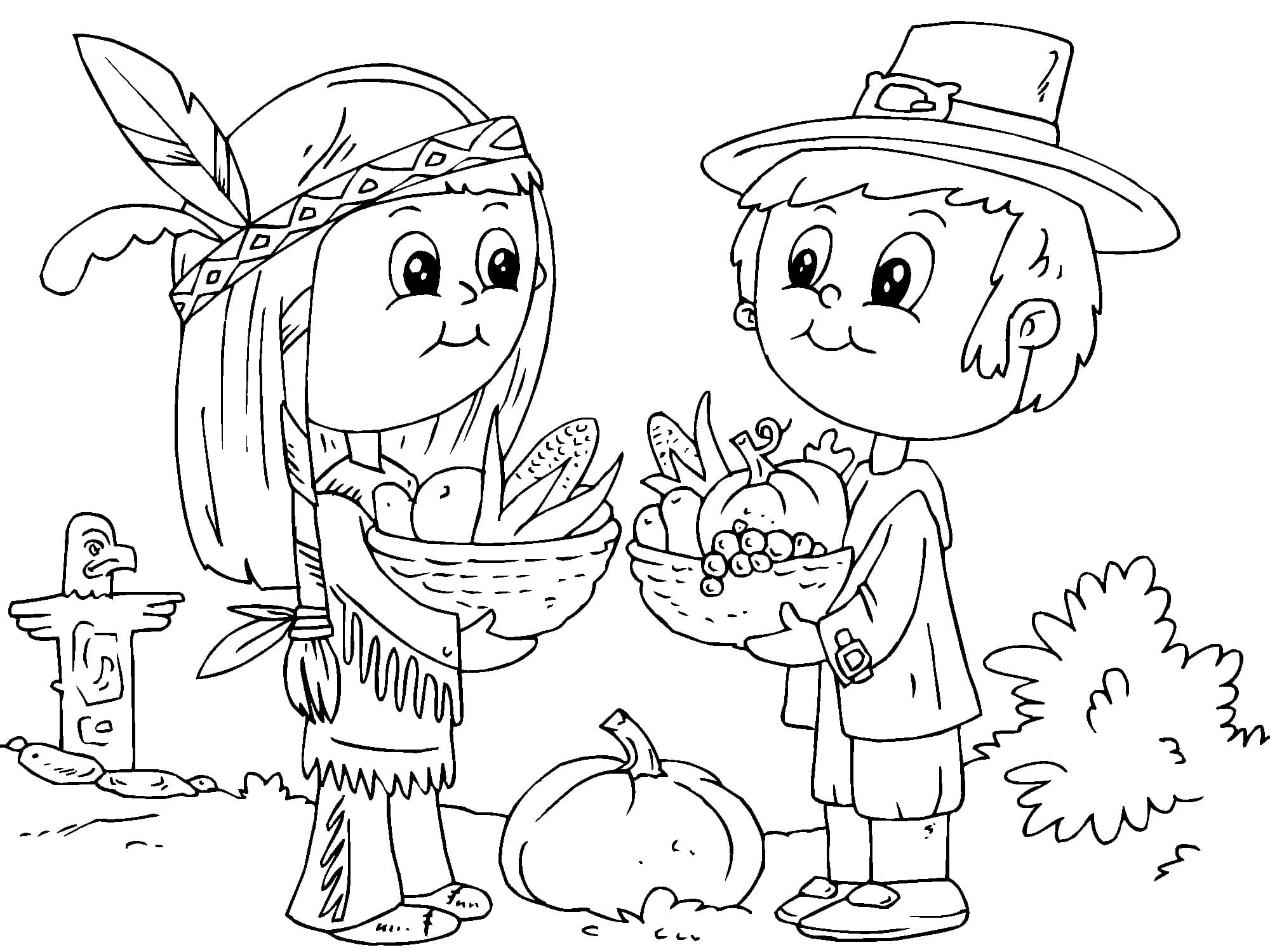 Thanksgiving Coloring Pages. Download or print for free