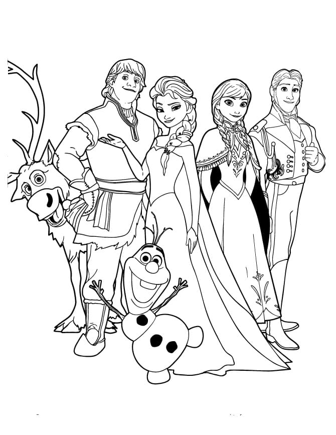 Frozen Coloring Pages 2 100 Images With Your Favorite Characters