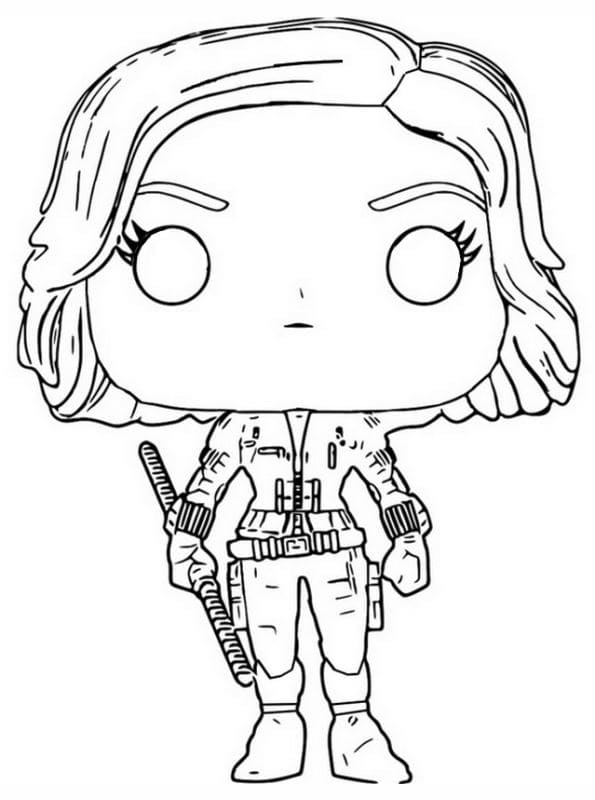 Coloring Pages Funko POP. Print Popular Character Figures