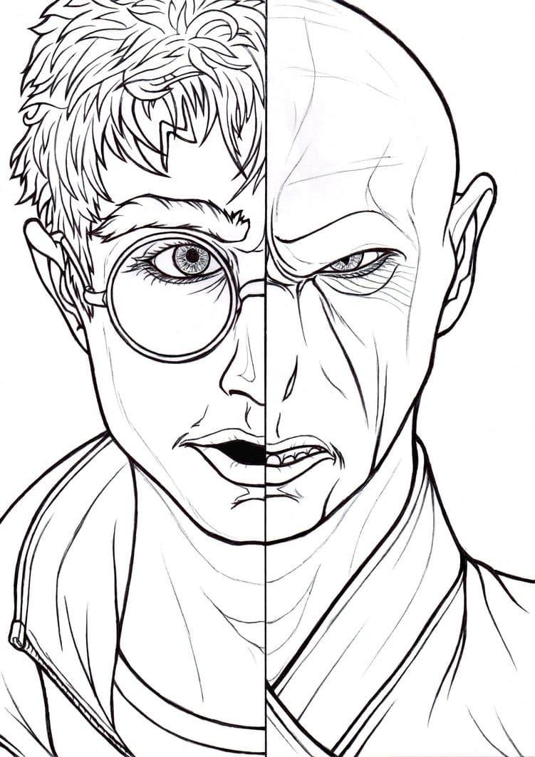 Ausmalbilder Harry Potter. Drucken Sie 10 bilder zum ausmalen