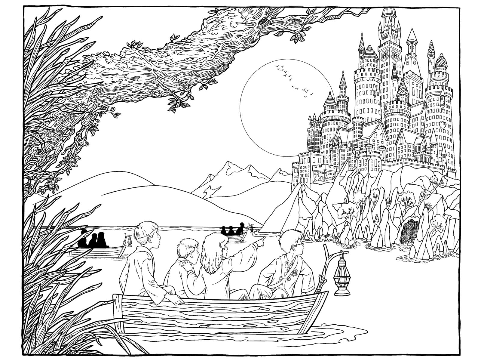 Раскраски Гарри Поттер. Распечатать бесплатно